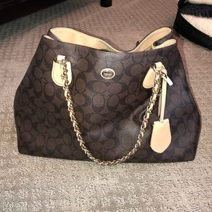 Coach Monogram Shoulder Bag